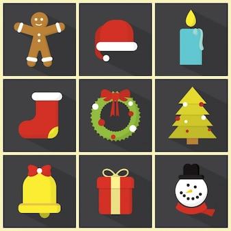 Coleção dos elementos do Natal