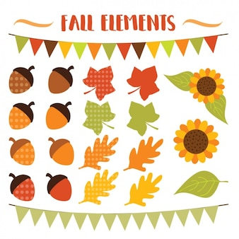 Coleção dos elementos do outono