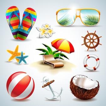 Coleção dos elementos do verão