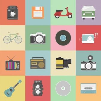 Coleção dos elementos do vintage
