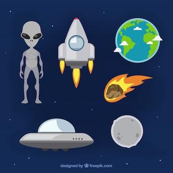 Coleção dos elementos espaciais