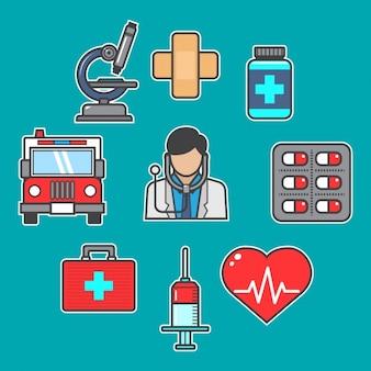 Coleção dos elementos médicos