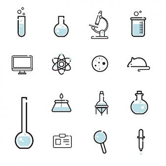 Coleção dos ícones da ciência
