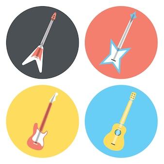 Coleção dos ícones da guitarra