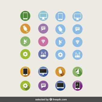 Coleção dos ícones da tecnologia