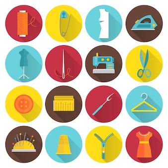 Coleção dos ícones de costura