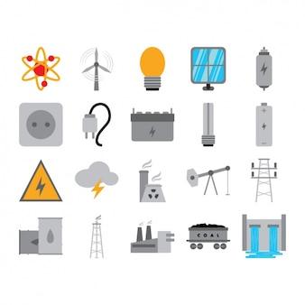 Coleção dos ícones de energia