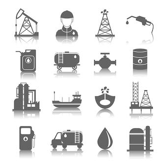 Coleção dos ícones de gasolina