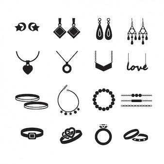 Coleção dos ícones de jóias