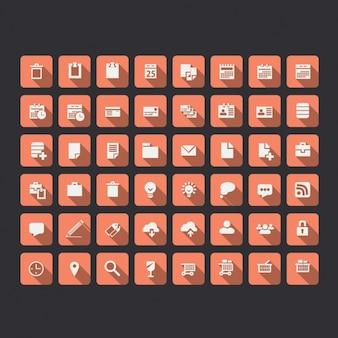 Coleção dos ícones de rede