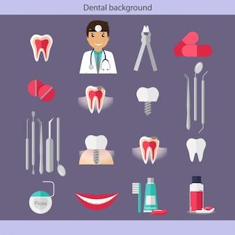 Coleção dos ícones do cuidado dental