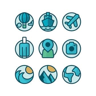Coleção dos ícones do curso