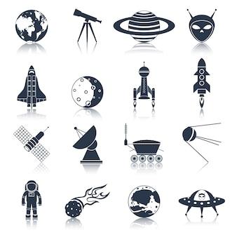 Coleção dos ícones do espaço