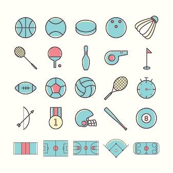 Coleção dos ícones do esporte