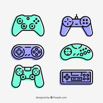Coleção dos ícones do Gamepad