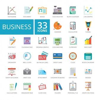 Coleção dos ícones do negócio