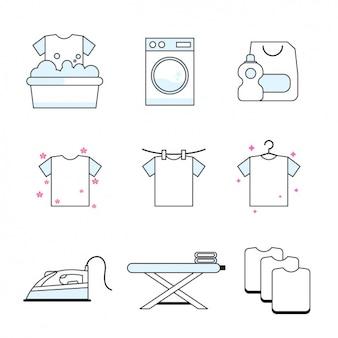 Coleção dos ícones do Trabalho Doméstico