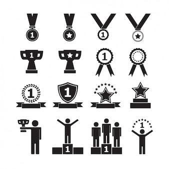 Coleção dos ícones do Trophy
