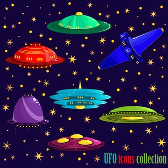Coleção dos ícones do Ufo