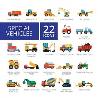 Coleção dos ícones do veículo