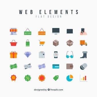 Coleção dos ícones do Web