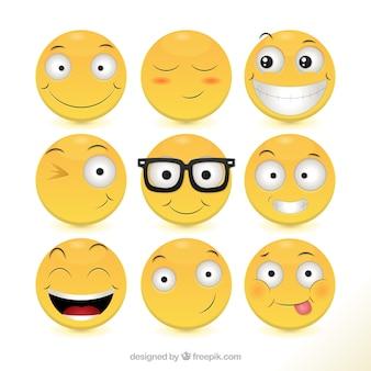 Coleção dos ícones felizes