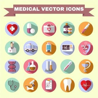 Coleção dos ícones médicos