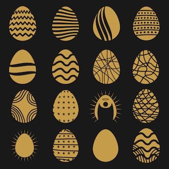 Coleção dos ovos de páscoa de ouro