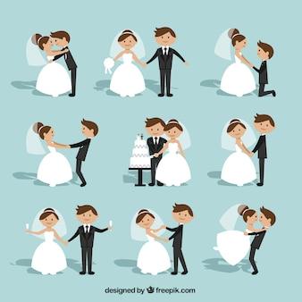 Coleção dos pares do casamento Plano