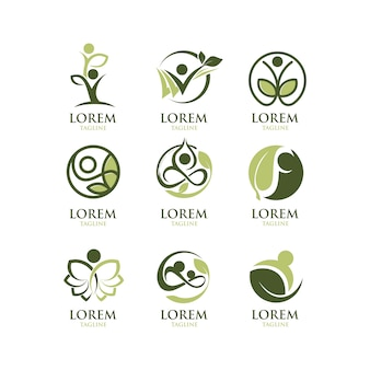 Coleção ecológica de logotipos