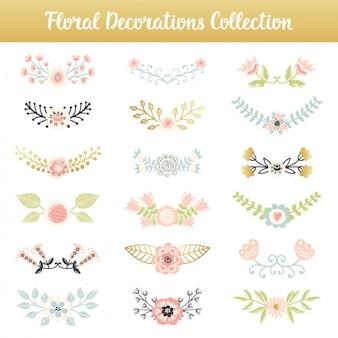 Coleção Elementos florais decorativos