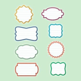 Coleção emblema papel