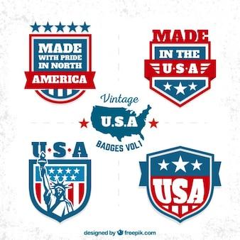 Coleção emblemas americanos
