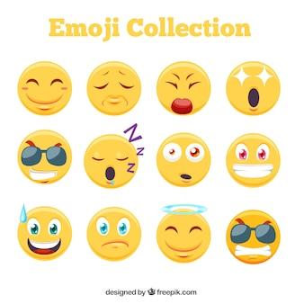 Coleção emoji impressionante