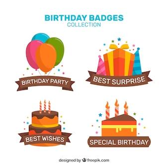 Coleção especial de emblemas de aniversário