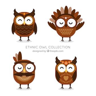 Coleção étnica da coruja