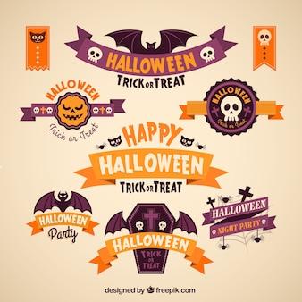 Coleção feliz banners halloween