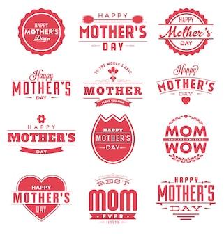 Coleção feliz do projeto do dia de mães