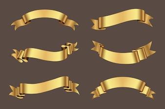 Coleção fitas douradas