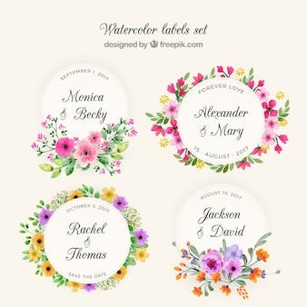 Coleção floral de grinaldas