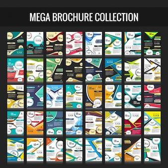 coleção folheto do negócio mega