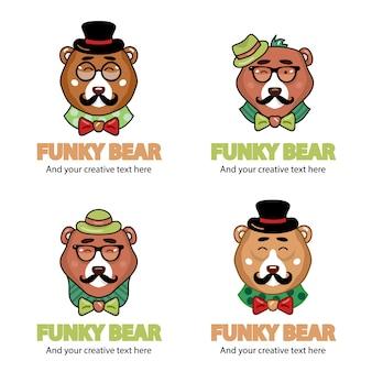 Coleção Funky do logotipo do urso