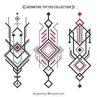 Coleção geométrica abstrata de tatuagem