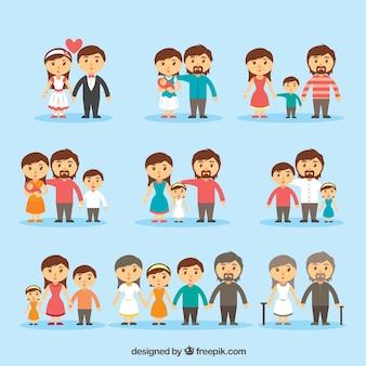 Coleção ícone da família