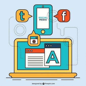 Coleção ícones de mídia social