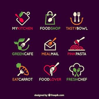 Coleção logos alimentos