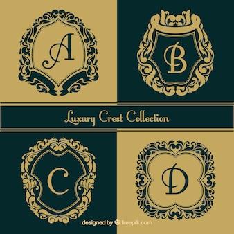 Coleção Logos de letras maiúsculas decorativos