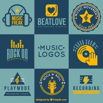 Coleção logotipo da música