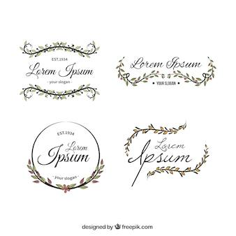 Coleção logotipo modelo Floral