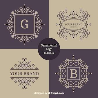 Coleção logotipo ornamental